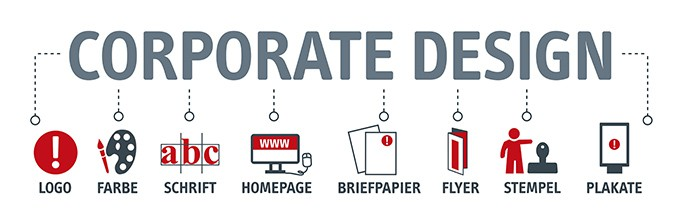 Illustration Banner Corporate Design Seminar-Organisation Fuchs