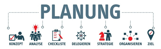 Illustration Banner Planung Seminar-Organisation Fuchs
